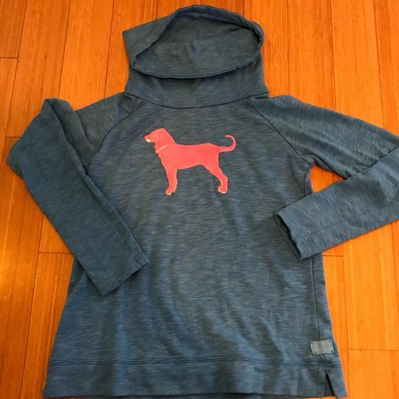 Black Dog Other - Black Dog blue sweatshirt with pink dog